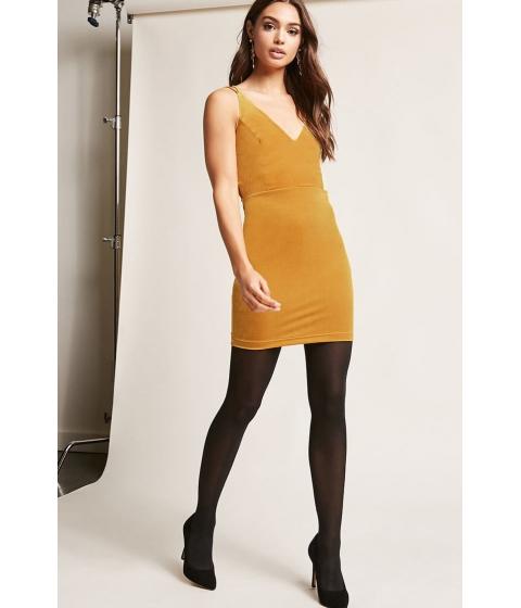 Imbracaminte Femei Forever21 Velvet Cami Dress GOLD