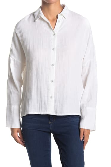 Imbracaminte Femei TOPSHOP Crinkle Shirt WHITE