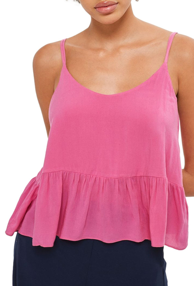 Imbracaminte Femei TOPSHOP Peplum Camisole PINK