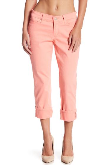 Imbracaminte Femei NYDJ Dayla Colored Wide Cuff Capri Jeans Petite PALE GUAVA
