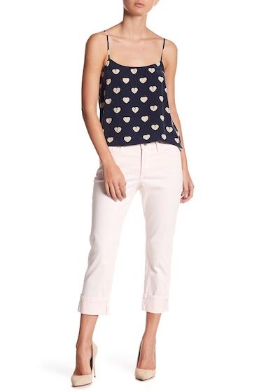 Imbracaminte Femei NYDJ Dayla Colored Wide Cuff Capri Jeans Petite PNK CHIFFO