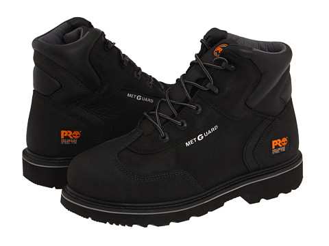 Incaltaminte Barbati Timberland 6quot Internal Met Guard Steel Toe Black Full-Grain Oiled Leather