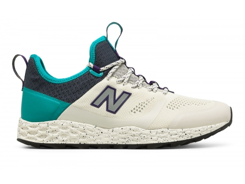 Incaltaminte Barbati New Balance Mens Fresh Foam Trailbuster Off White with Green Purple