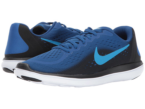 Incaltaminte Baieti Nike Flex RN 2017 (Big Kid) Gym BlueBlue OrbitBlackWhite
