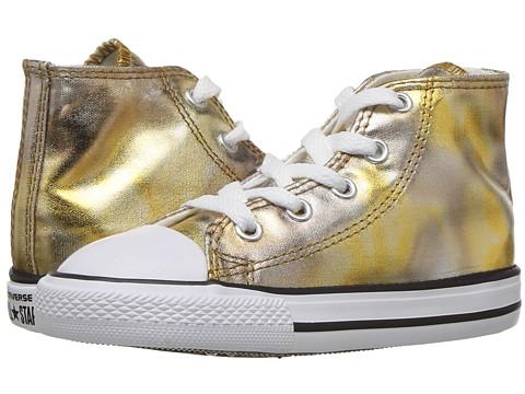 Incaltaminte Fete Converse Chuck Taylor All Star Hi Metallic (InfantToddler) Silver GoldWhiteBlack
