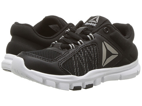 Incaltaminte Baieti Reebok Yourflex Train 90 (Little KidBig Kid) BlackSkull GreyWhite
