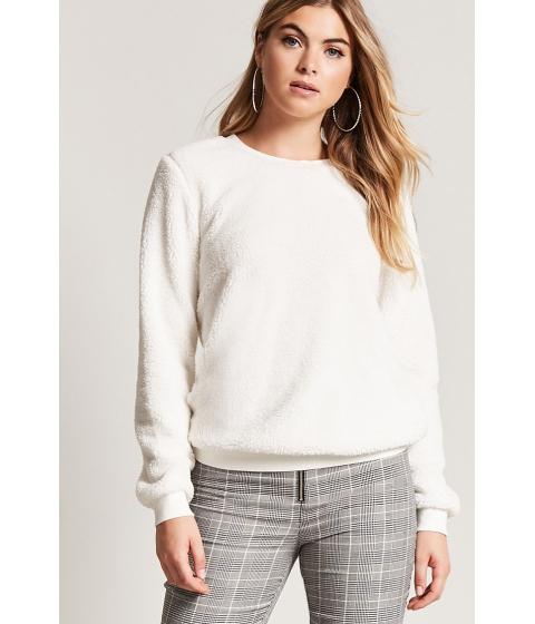 Imbracaminte Femei Forever21 Faux Shearling Sweatshirt CREAM