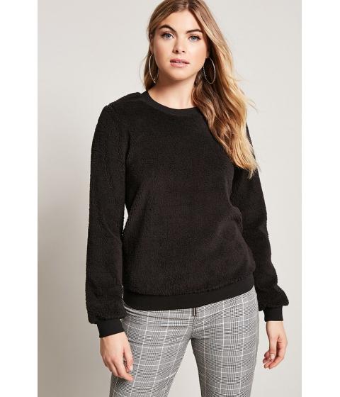 Imbracaminte Femei Forever21 Faux Shearling Sweatshirt BLACK