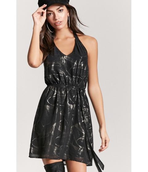 Imbracaminte Femei Forever21 Abstract Print Halter Dress BLACKGOLD