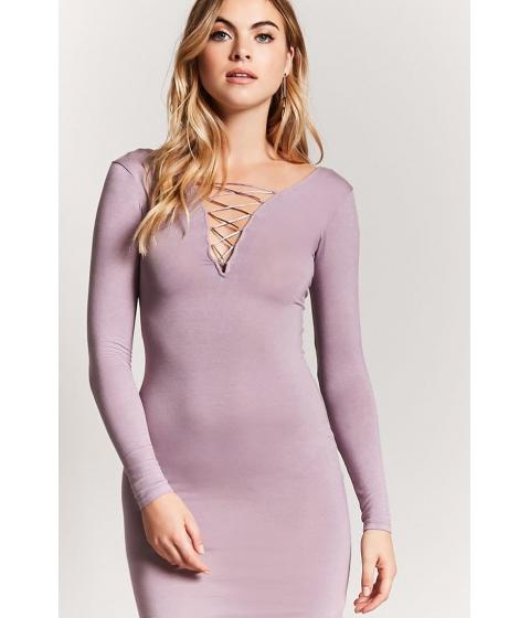 Imbracaminte Femei Forever21 Lace-Up Bodycon Dress LAVENDER
