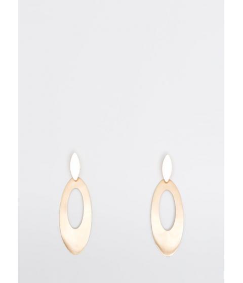 Bijuterii Femei CheapChic All Oval You Cut-out Plate Earrings Gold