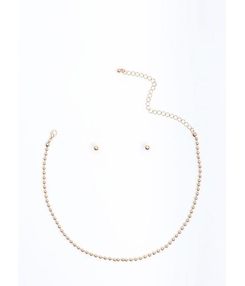 Bijuterii Femei CheapChic Pass The Ball Chain Necklace Set Gold