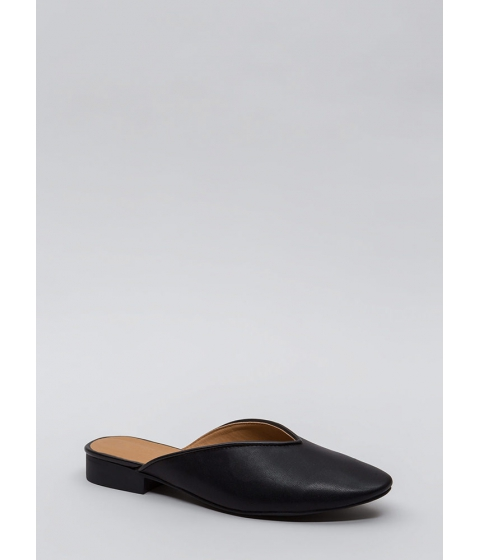 Incaltaminte Femei CheapChic Let It V Known Faux Leather Flats Black