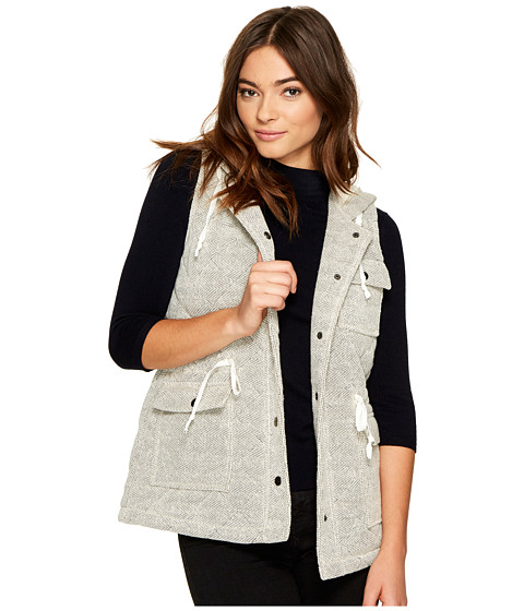 Imbracaminte Femei BB Dakota Regas Herringbone French Terry Quilted Vest Ivory