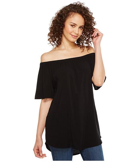 Imbracaminte Femei Allen Allen Short Sleeve off the Shoulder Top Black