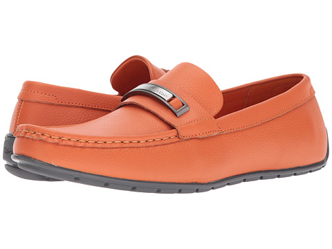 Incaltaminte Barbati Calvin Klein Irving Safety Orange Tumbled Leather