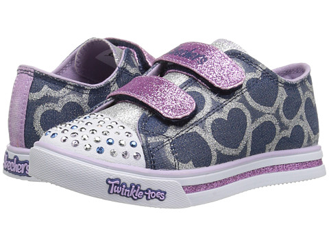 Incaltaminte Fete SKECHERS Sparkle Glitz 10709N Lights (Toddler) DenimLavendar