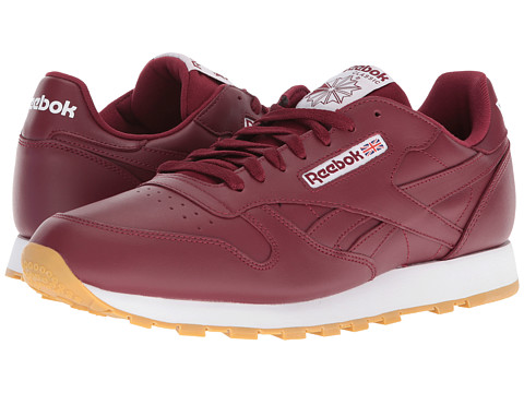 Incaltaminte Barbati Reebok Classic Leather MerlotWhiteGum Rubber