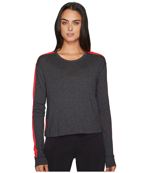 Imbracaminte Femei Under Armour Favorite Mesh Long Sleeve Graphic Carbon HeatherMarathon RedMarathon Red