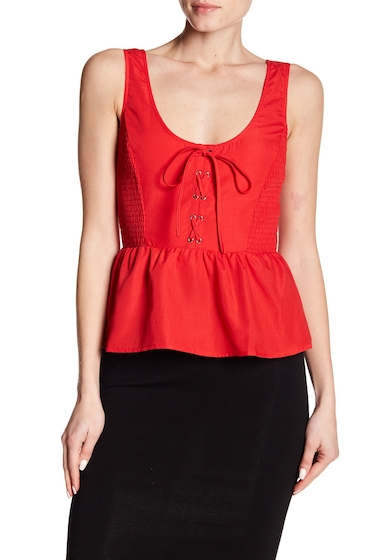 Imbracaminte Femei Flying Tomato Lace-Up Tank Top RED