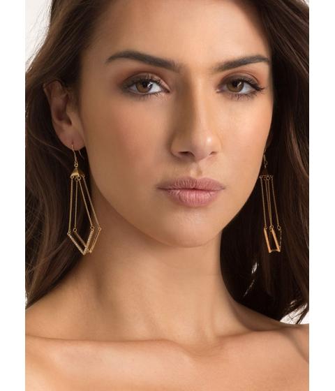 Bijuterii Femei CheapChic Let It V Known Jeweled Earrings Gold