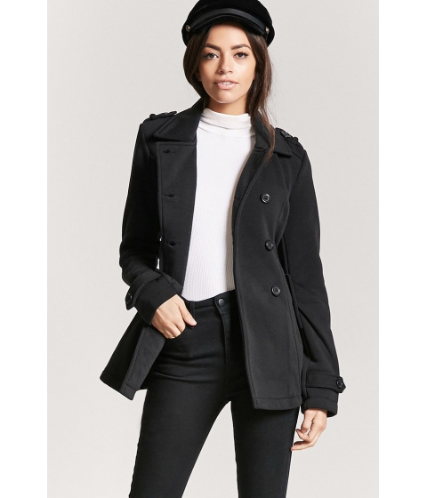 Imbracaminte Femei Forever21 Belted Double-Breasted Trench Coat BLACK