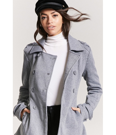 Imbracaminte Femei Forever21 Belted Double-Breasted Trench Coat DARK GREY
