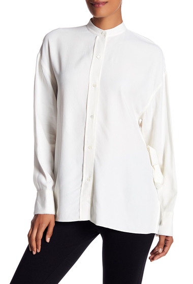 Imbracaminte Femei Helmut Lang Draped Open Back Blouse WHITE