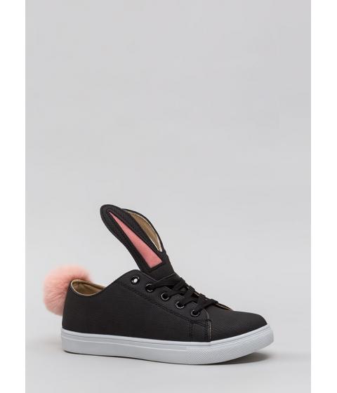 Incaltaminte Femei CheapChic Bunny Business Pom-pom Sneakers Black