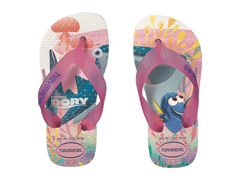 Incaltaminte Fete Havaianas Nemo and Dory Sandals (ToddlerLittle KidBig Kid) White
