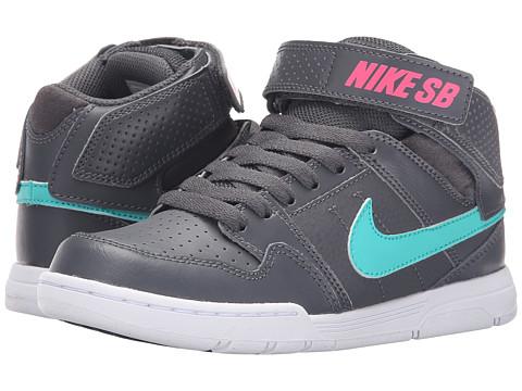 Incaltaminte Baieti Nike SB Kids Mogan Mid 2 Jr (Little KidBig Kid) Dark GreyHyper PinkWhiteLight Retro