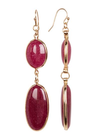 Bijuterii Femei Spring Street Oval Double Drop Earrings BURGANDY