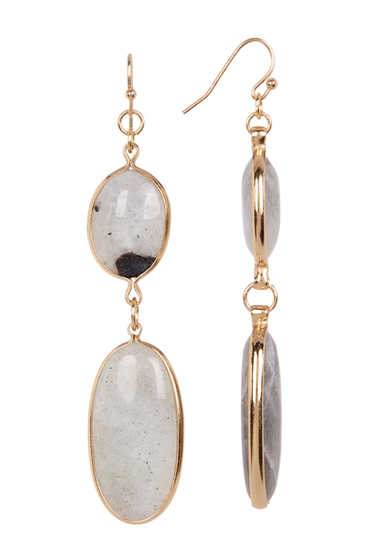 Bijuterii Femei Spring Street Oval Double Drop Earrings LABRODITE