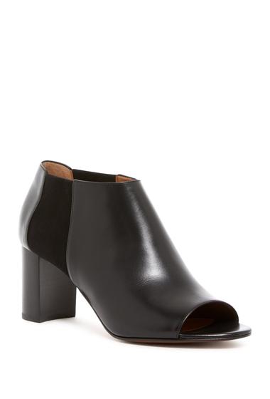 Incaltaminte Femei Aquatalia Shaw Peep Toe Leather Bootie BLACK