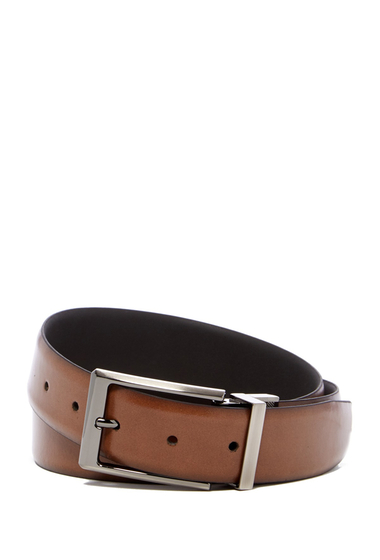Accesorii Barbati Boconi Reversible Leather Belt REV-TAN-BLK