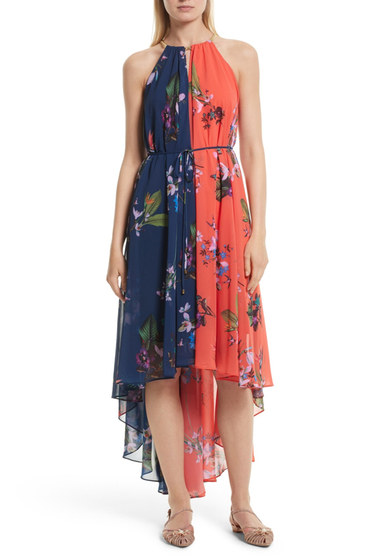 Imbracaminte Femei Ted Baker London Hanie Hi-Lo Maxi Dress NAVY