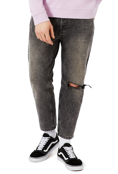 Imbracaminte Barbati TOPMAN Rigid Tapered Fit Jeans GREY