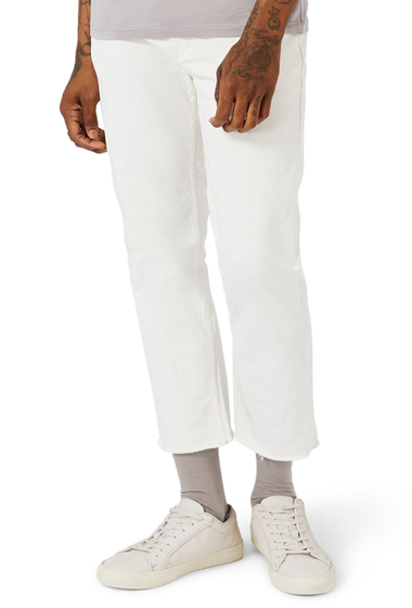 Imbracaminte Barbati TOPMAN Standard Straight Leg Cutoff Jeans WHITE