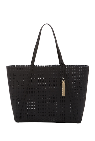 Genti Femei Vince Camuto Anja Perforated Leather Tote Bag BLACK 01