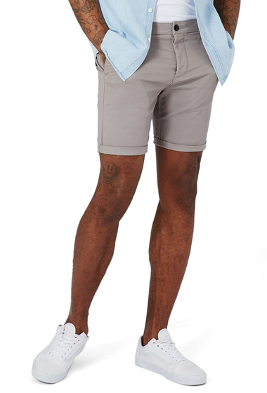 Imbracaminte Barbati TOPMAN Stretch Skinny Fit Chino Shorts MEDIUM GREY