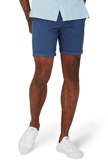 Imbracaminte Barbati TOPMAN Stretch Skinny Fit Chino Shorts MID BLUE