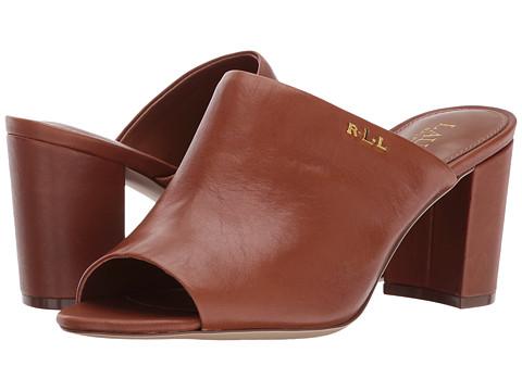 Incaltaminte Femei LAUREN Ralph Lauren Harlowe-SN Deep Saddle Tan Super Soft Leather