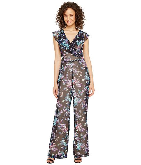 Imbracaminte Femei Adelyn Rae Genevieve Frill Jumpsuit BlackTurquoise