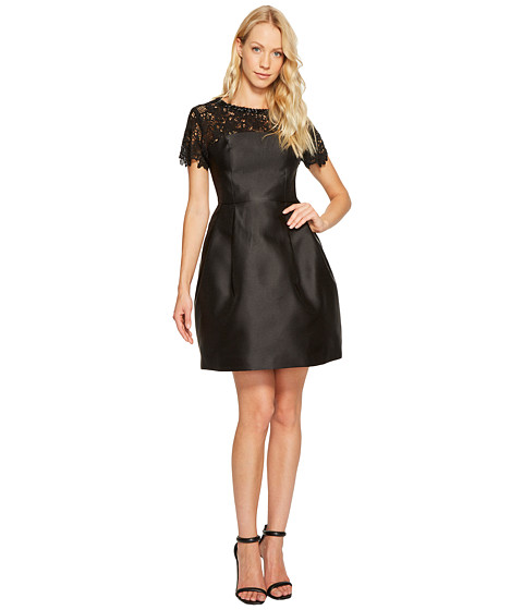 Imbracaminte Femei Jessica Simpson Solid Party Dress with Neck Trim JS7A9450 Black