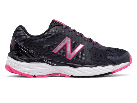 Incaltaminte Femei New Balance Womens New Balance 680 Grey with Black Pink
