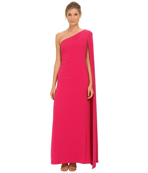 Imbracaminte Femei Jill Jill Stuart One Shoulder Cape 2-Ply Crepe Gown Hot Pink