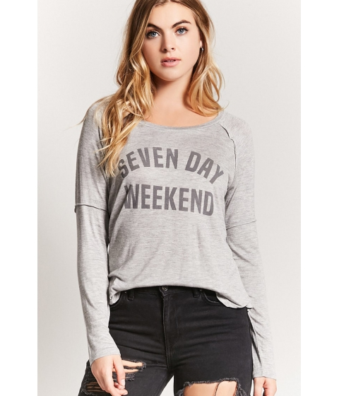 Imbracaminte Femei Forever21 Seven Day Weekend Graphic Top HEATHER GREY