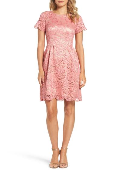 Imbracaminte Femei Vince Camuto Lace Fit Flare Dress PINK
