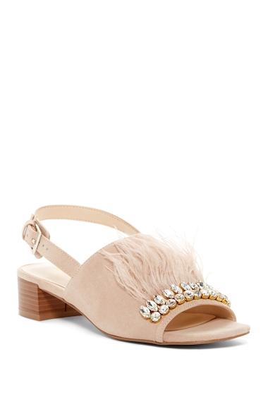 Incaltaminte Femei Nine West Ribeiro Embellished Slingback Sandal LTNATUR FB