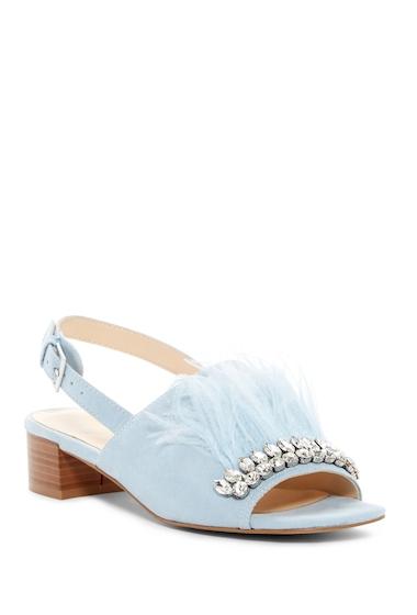 Incaltaminte Femei Nine West Ribeiro Embellished Slingback Sandal LT BLUE FB